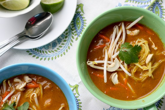 Thai Coconut Curry Soup (Chicken Khao Soi) - Perry's Plate