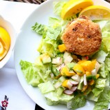 Coconut Shrimp Cakes with Mango Salsa