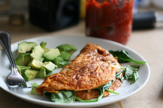 sun dried tomato omelet