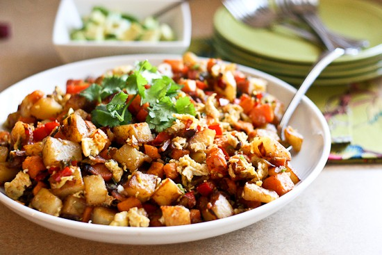 Sweet Potato and Bacon Breakfast Hash - www.PerrysPlate.com