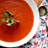 Simple Roasted Tomato Soup - www.perrysplate.com