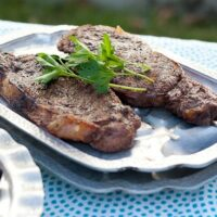 Five-Spice Steaks with Ginger Butter