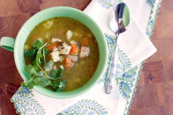 Paleo Salsa Verde Chicken Soup