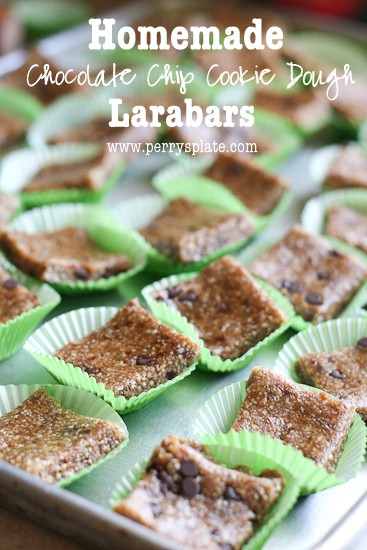 Homemade Larabars - Chocolate Chip Cookie Dough