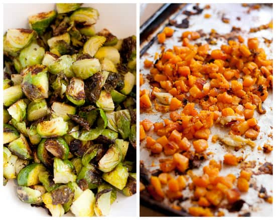 12 - Roasted Brussels & Butternut with Bacon - www.perrysplate.com