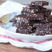 Chocolate Hazelnut Energy Bars (Homemade Larabars)