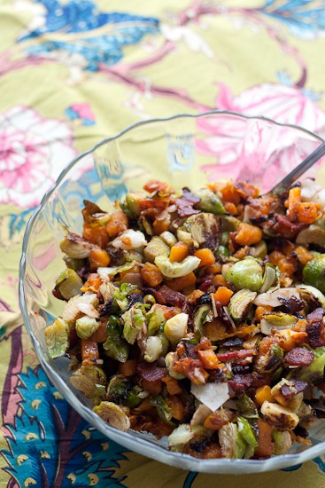 Roasted Brussels & Butternut with Bacon-3