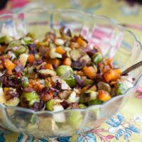 Roasted Brussels & Butternut with Bacon-5