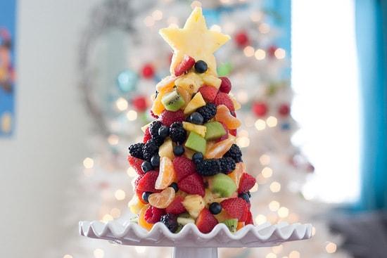 Tasty Kitchen Blog Fruit Christmas Tree 1