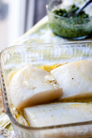 Baked Cod with Lemon-Basil Pesto-1