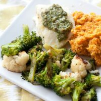 Baked Fish with Lemon-Basil Pesto