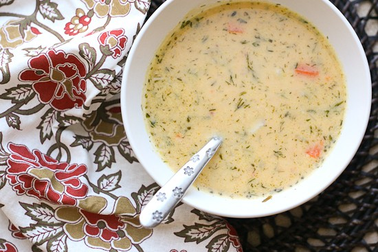 Dill Turkey Chowder with Sweet Potatoes - PerrysPlate.com