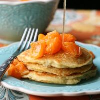 Paleo Dreamsicle Pancakes with Clementine-Vanilla Bean Compote