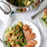 Spring Vegetable Salad with Dill Pesto and Prosciutto-1