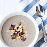 Paleo Mushroom Soup with Bacon-2