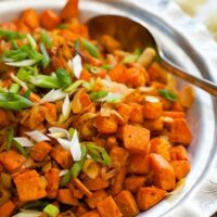 Thai Roasted Sweet Potatoes with Coconut and Lime