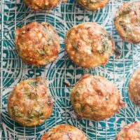 Prosciutto-wrapped Pesto Frittata Muffins
