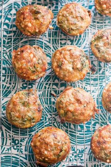 Prosciutto-Wrapped Pesto Fritatta Muffins -- These are an easy make-ahead breakfast option that's gluten-free and paleo friendly. | PerrysPlate.com