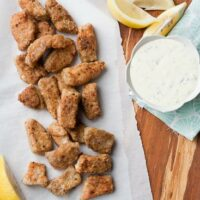 Paleo Fish Nuggets and Homemade Tartar Sauce-1
