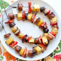 Southwest Sausage and Pineapple Skewers-3