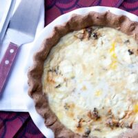 Chorizo and Goat Cheese Quiche-1