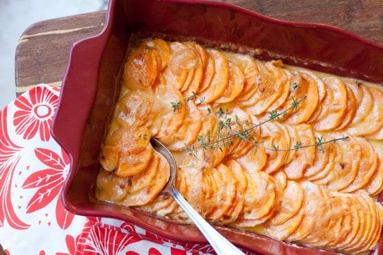 Tasty Kitchen Blog Scalloped Hasselback Sweet Potatoes 13