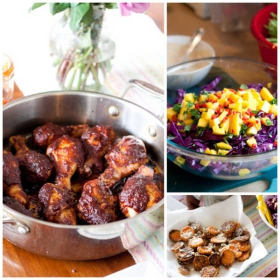 Date Night In Review + Caribbean Style Chicken Legs with sides! | PerrysPlate.com