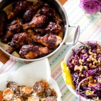 Caribbean-Style BBQ Chicken Legs