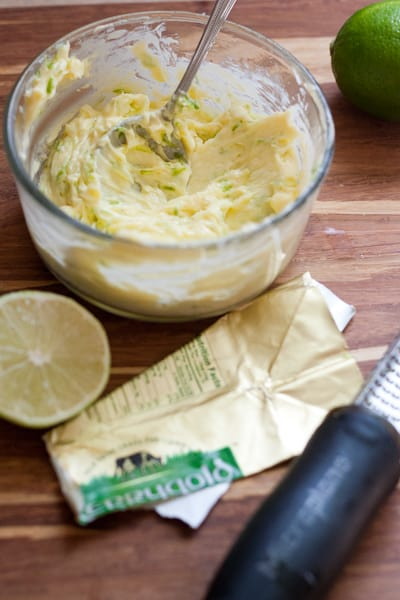 Lime Butter is great on just about anything that comes off the grill! -- www.perrysplate.com