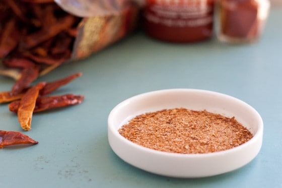 This dry version of sriracha has a sweet-tart heat and can be used in a spice rub, marinade, or in any place you'd find sriracha.