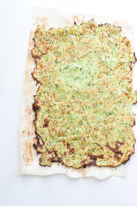 Paleo Zucchini Flatbread | A paleo alternative to flatbread or lavash