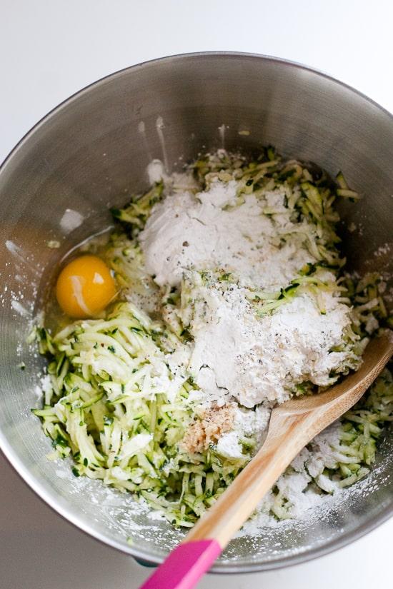 Paleo Zucchini Flatbread | Prep shot