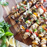 Middle Eastern Chicken and Eggplant Skewers