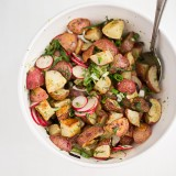 Roasted Potato Salad with Dill and Scallion Vinaigrette
