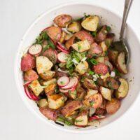 Roasted Potato Salad with Dill-Scallion Vinaigrette