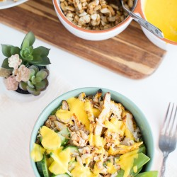 Thai Grilled Chicken Bowls with Mango-Lime Dressing-6
