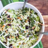 Sweet Kale Salad (Costco Copycat)-4