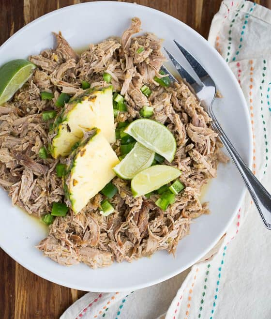 Slow Cooker Pineapple-Jalapeno Pulled Pork