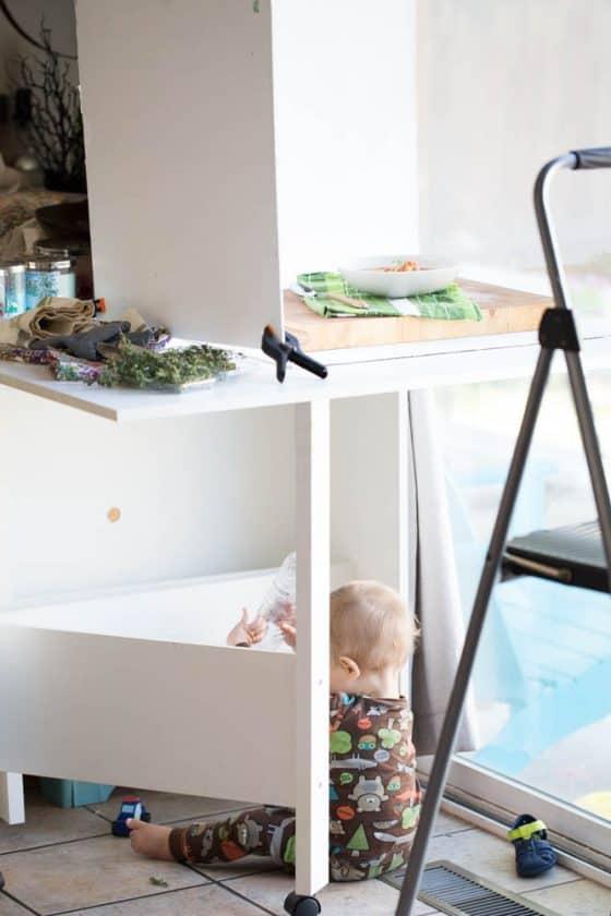 Cookbook Progress with a Little Human