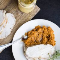 Mustard-Herb Pork Loin with Maple Butternut Mash