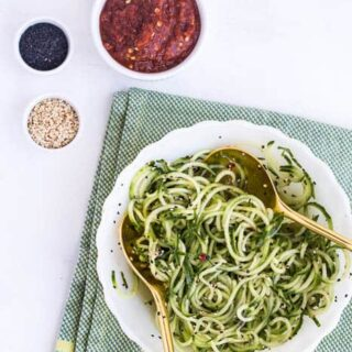 Sesame Marinated Cucumber Noodles