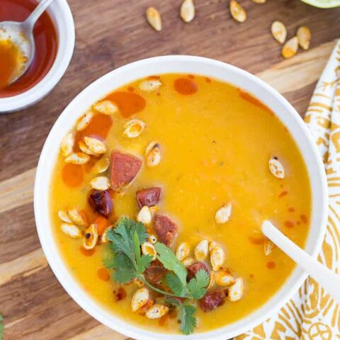 Azteca Squash Soup with Chorizo
