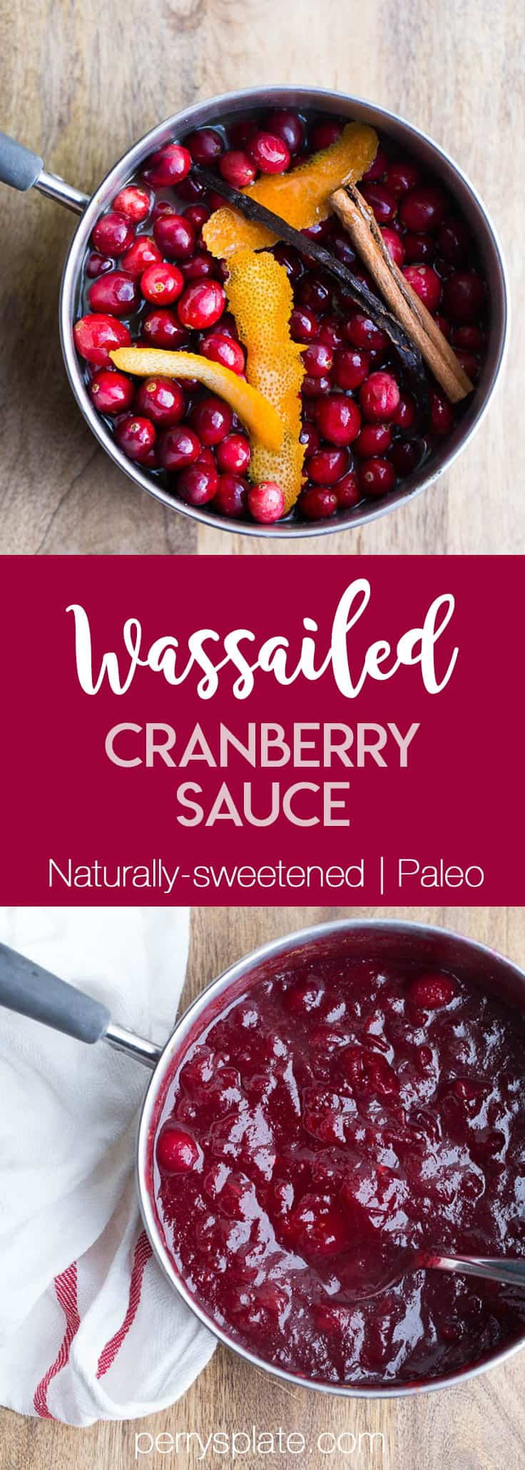 Wassailed Cranberry Sauce | Paleo Cranberry Sauce | Fast and Easy Cranberry Sauce | perrysplate.com