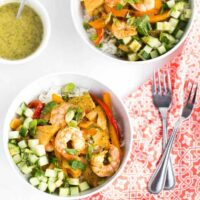 Chipotle Shrimp & Pineapple Bowls with Coconut Vinaigrette