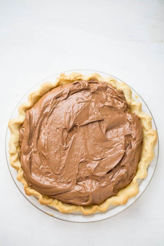 Cleaned-Up Chocolate Silk Pie | perrysplate.com
