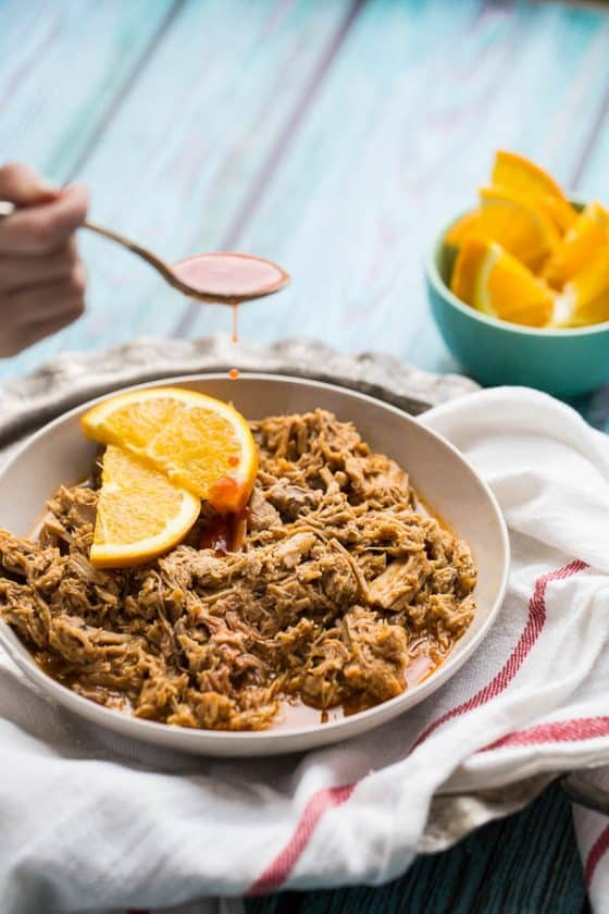 Hot & Sweet Orange Pulled Pork (Instant Pot or Slow Cooker)