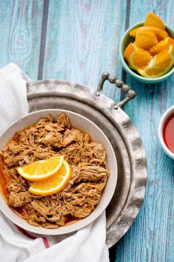 Hot & Sweet Orange Pulled Pork (Instant Pot or Slow Cooker)