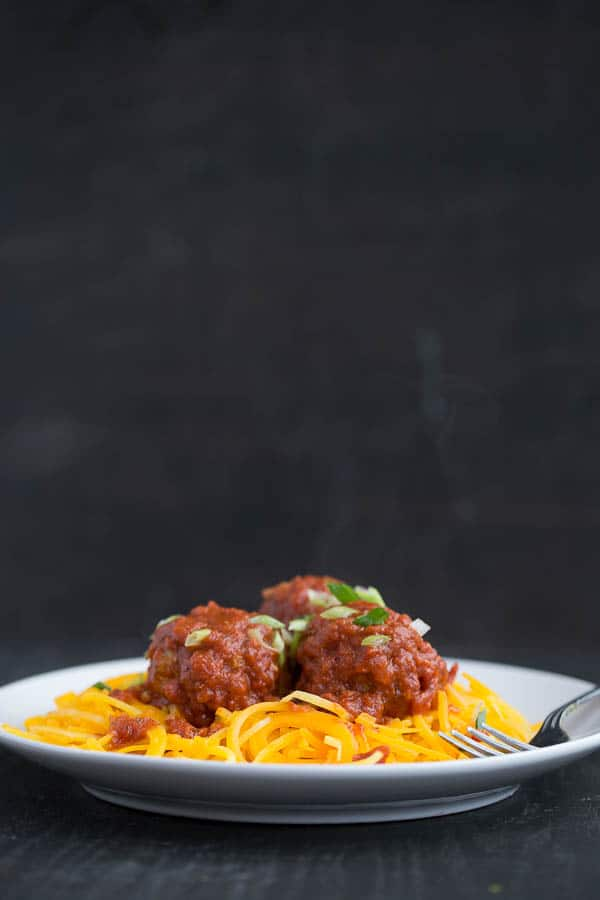 Easy Italian Sausage Meatballs | paleo recipes | whole30 recipes | meatball recipes | perrysplate.com