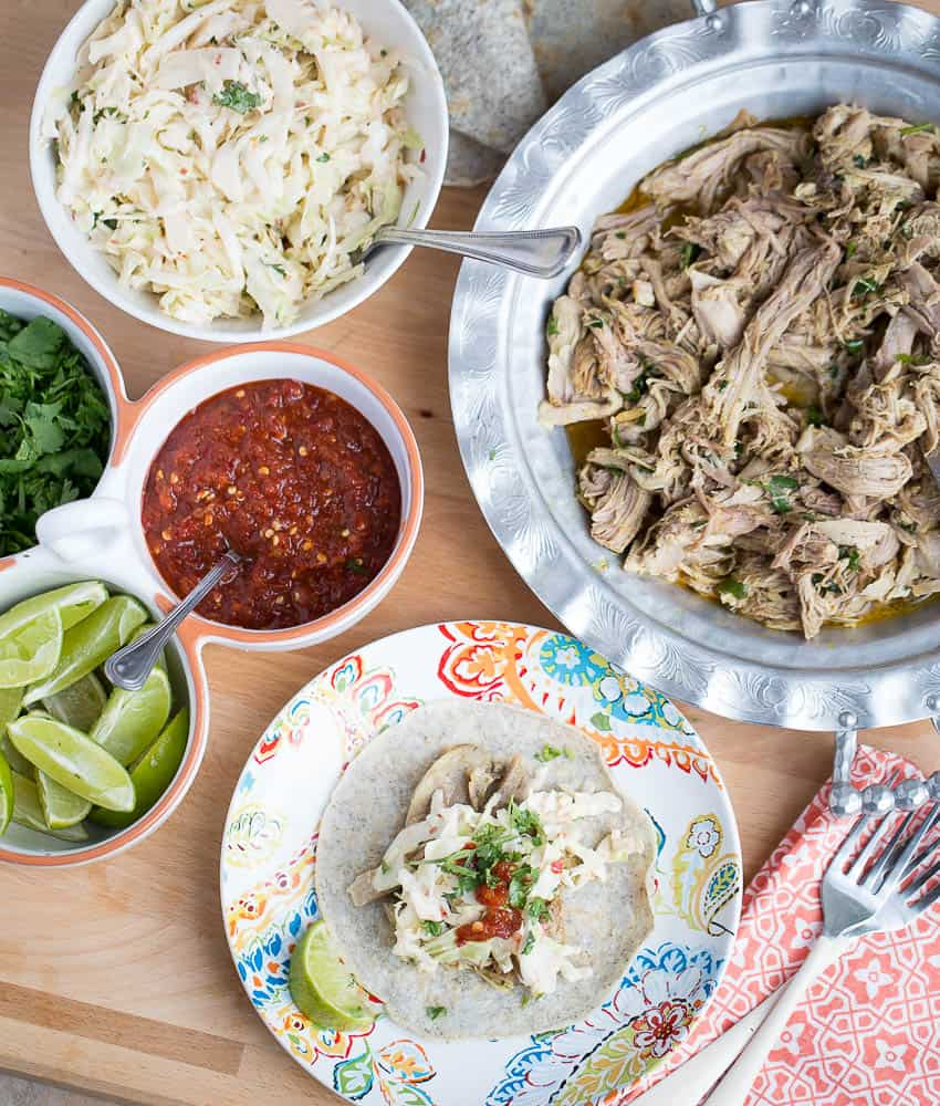 Slow Cooker Thai Pulled Pork Tacos | Slow Cooker recipes | paleo recipes | crock pot recipes | paleo cookbooks | perrysplate.com