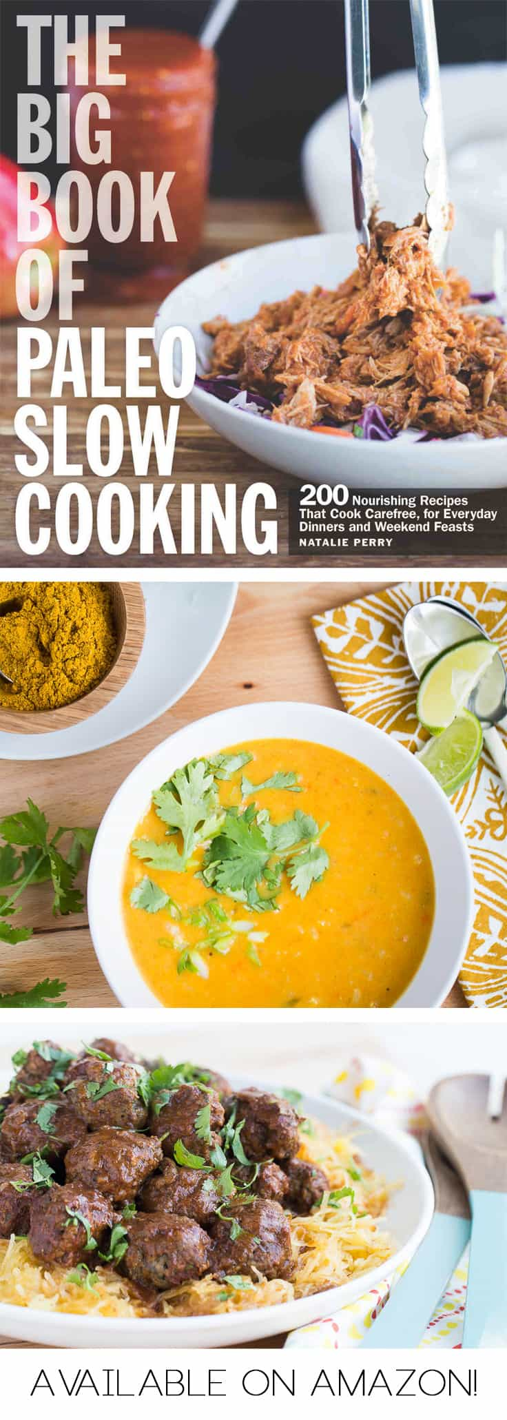 Sneak peeks of The Big Book of Paleo Slow Cooking! | Paleo recipes | Whole30 recipes | Crock Pot Recipes | menu planning | meal planning | perrysplate.com